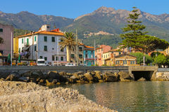 The coast of the Tyrrhenian Sea, Marciana Marina on Elba Island, Royalty Free Stock Photos