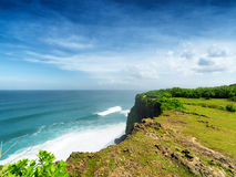 Coast at Uluwatu temple, Bali, Indonesia Royalty Free Stock Images