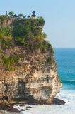 Coast at Uluwatu temple Royalty Free Stock Images