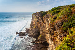 Coast at Uluwatu temple Royalty Free Stock Photo
