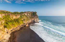 Coast at Uluwatu temple Royalty Free Stock Image