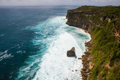 Coast at Uluwatu temple, Bali, Indonesia Royalty Free Stock Photos