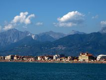Coast of the Versilia - Tuscany Royalty Free Stock Photography