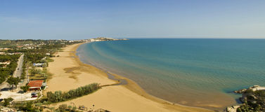 Coast of vieste,apulia,seascape,panorama Royalty Free Stock Photos