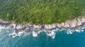 Coast of Vietnam. An aerial view over the coast of Vietnam near Monkey Island Stock Images