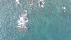 Coast of Vietnam. Aerial view over the coast of Vietnam near Monkey Island Royalty Free Stock Photography