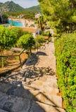 Majorca, beautiful seaside landscape in Canyamel. Coast view of bay and beach in Canyamel Majorca Spain, Balearic islands Stock Images