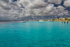 Coast view of Bonaire`s Water Stock Photography