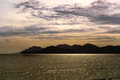 Coast view in cannes, france stock image