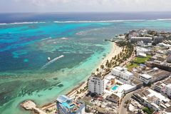 Coast view of caribbean island royalty free stock photography