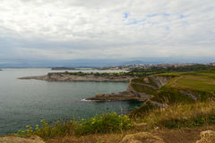 Coast view in the city of santander Stock Photography