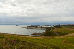 Coast view in the city of santander Stock Image