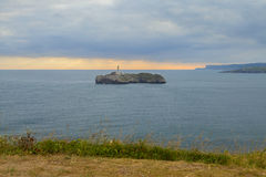 Coast view in the city of santander Stock Photo