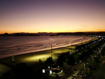 Coast view of the city of santos in brazil. Beautiful view of the city of santos in brazil stock photo
