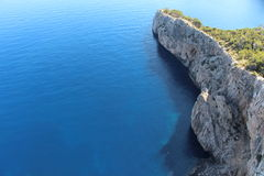Coast view in Majorca. Coast view in the way to Cap Formentor, Majorca, Spain Royalty Free Stock Image