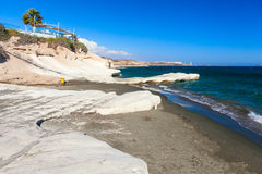 Coast view near Kalymnos Beach in Cyprus. Stock Image