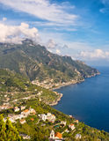 Coast View, Ravello, Italy Stock Images