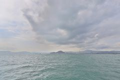 Coast view west kowloon  at Belcher Bay Park. Coast view of west kowloon at Belcher Bay Park Stock Images