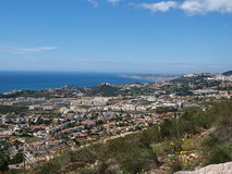 Coast views Benalmadena and Fuengirola Royalty Free Stock Image