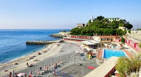 Coast Views of Genoa city, Italy, Trabel Europe royalty free stock photography