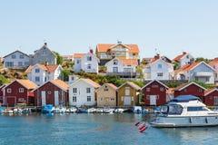 Coast village stock photo