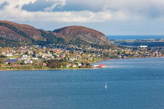 Coast village in Norway Stock Images
