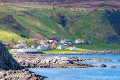 Coast village stock image