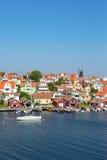 Coast village on Swedish west coast Royalty Free Stock Photo