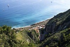 The coast of the Villagonia Bay in Sicily, Italy Royalty Free Stock Photos