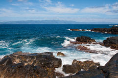 Coast of volcanic island Pico Stock Photography