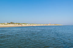 Coast of Waddensea island Texel, Netherlands Royalty Free Stock Photos