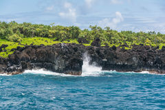 Coast at Wai'anapanapa, Maui. A view of the coast at Wai'anapanapa in Maui, Hawaii Stock Images