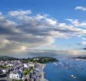 Coast of Wales with Conwy bay in United Kingdom Royalty Free Stock Photography