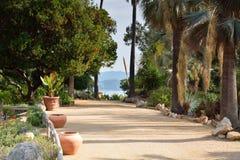 Coast walkway Stock Images