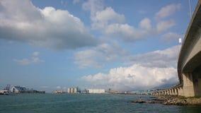 Coast way. Sunny sea cloud highway Stock Images