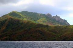 The coast of Waya Island, Yasawa Islands, Fiji royalty free stock image