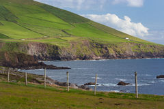Coast of Western Dingle Peninsula. The wild, wind and sea swept coast of the western Dingle Peninsula, County Kerry, Ireland stock photography