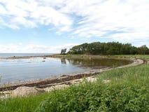 The coast of the White Sea at the Big Solovki island Stock Photography