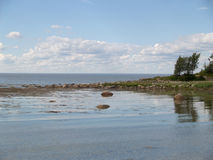 The coast of the White Sea at the Big Solovki island Stock Images