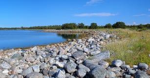 Coast of White Sea on Bolshaya Muksalma Island Royalty Free Stock Photography