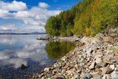 Coast of the White Sea, early autumn Stock Photography
