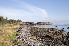 Coast of White sea, northern Russia Stock Photos