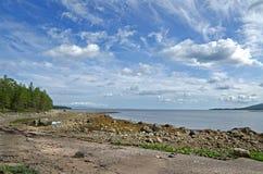 Coast of the White sea Stock Images