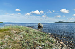 Coast of the White sea Stock Photos