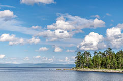 Coast of the White sea Royalty Free Stock Images