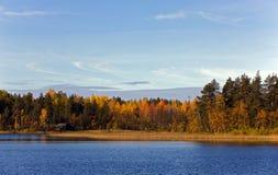 Coast of wood lake Stock Image