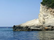 Coast of Zakhyntos Royalty Free Stock Photography