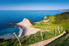Coast of Zumaia in Gipuzkoa Royalty Free Stock Images