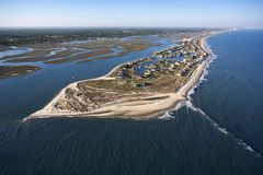 Coastal aerial. Royalty Free Stock Images
