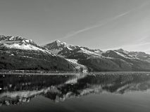 Coastal Alaska in Black and White Royalty Free Stock Image